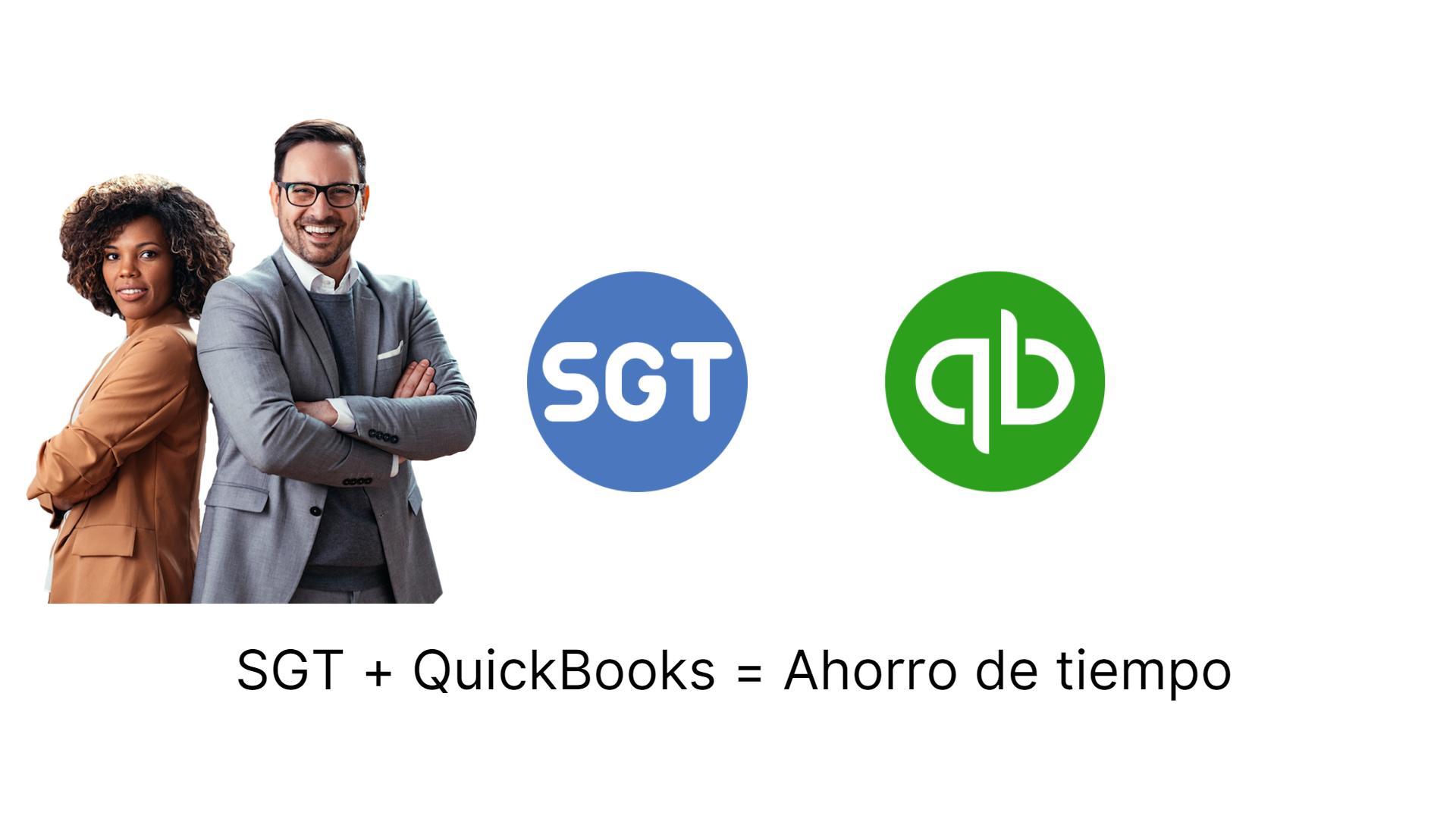 SGT + QuickBooks = Ahorro de tiempo